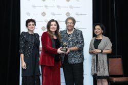 Abeer Saqer receives 2017 IWEC Award.