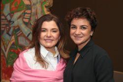 Abeer Saqer and Princess Noor during 2017 IWEC